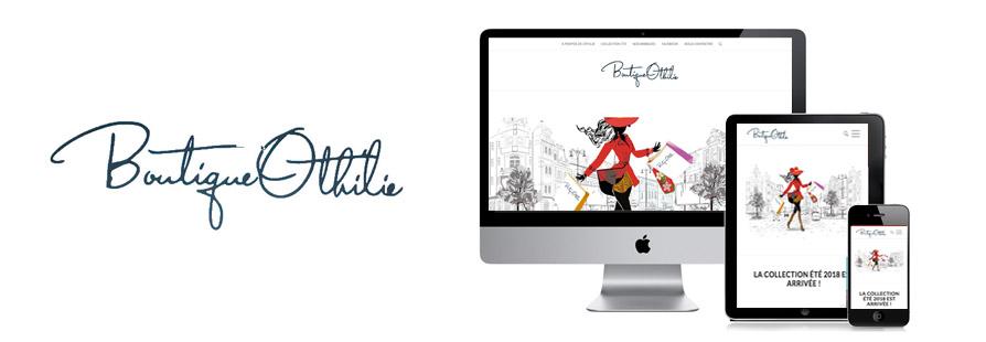 Photo du site Site vitrine Création du site vitrine Boutique Othilie à Genève
