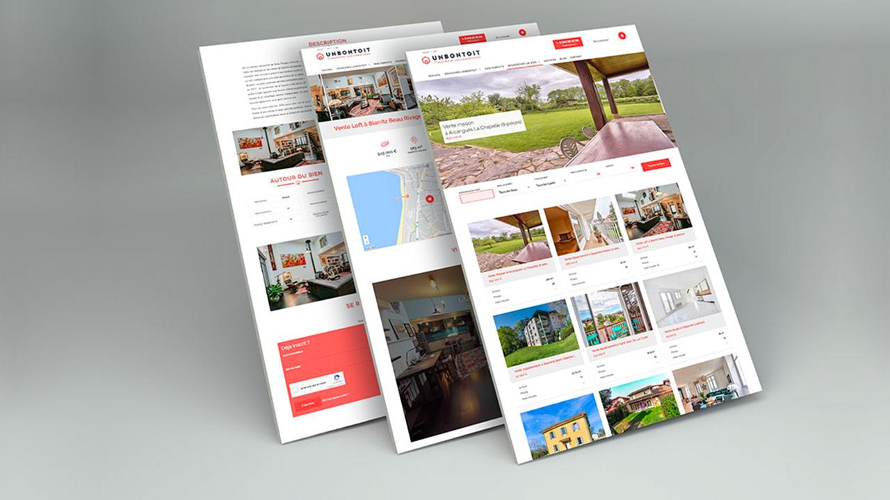 Photos de la création de Site marchand UNBONTOIT