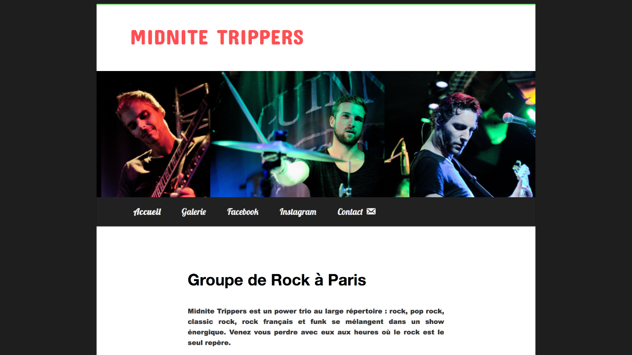 Photo du site Site vitrine Midnite Trippers