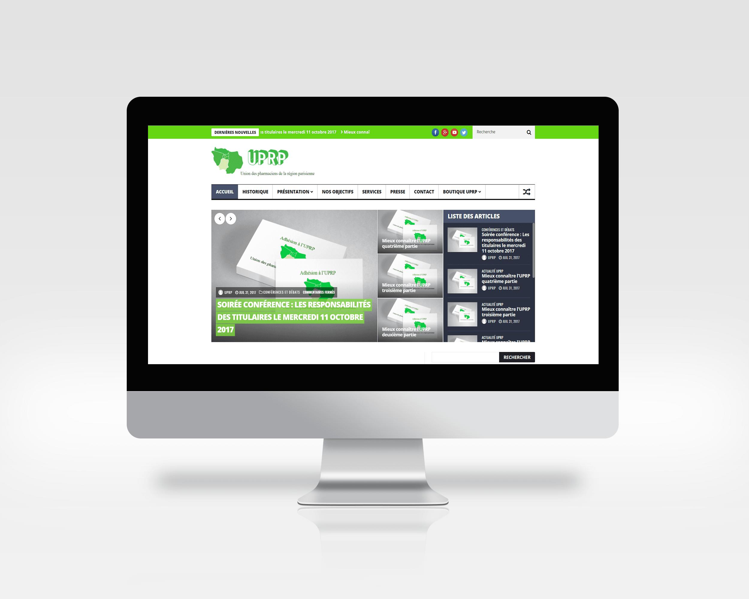 Photo du site Site vitrine Création de site web