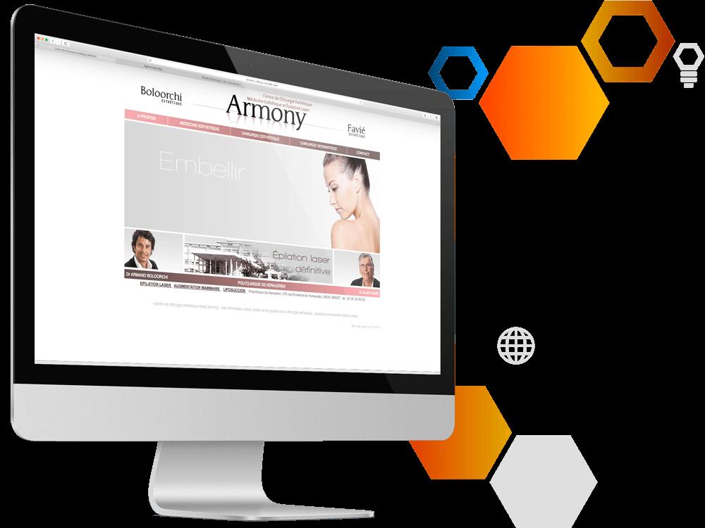 Photos de la création de Site vitrine Centre de chirurgie esthétique ARMONY