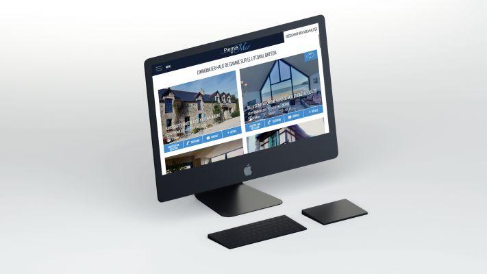 Photos de la création de Site vitrine Création site immobilier sur mesure