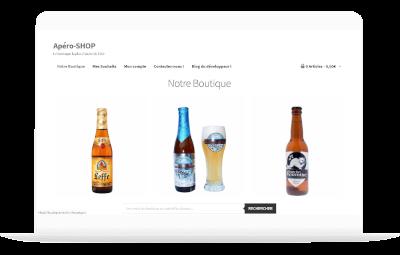 Photos de la création de Site marchand Apéro SHOP boutique fictive