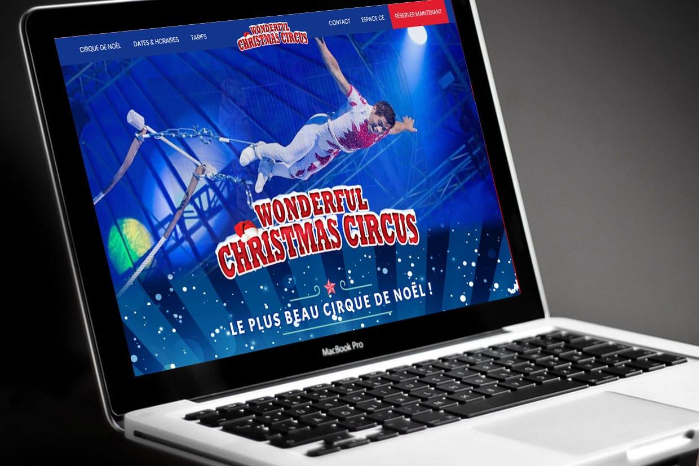 Photo du site Site vitrine Site Internet Christams Circus