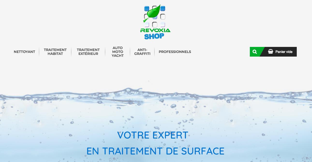 Photos de la création de Site marchand Revoxia Shop