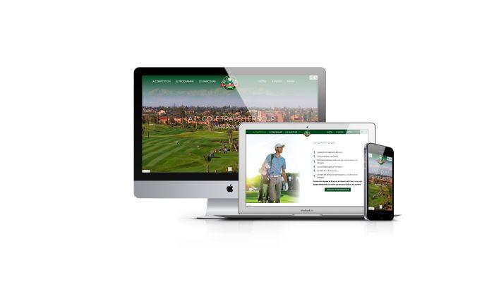Photos de la création de Site vitrine Création site One Page compétition de Golf