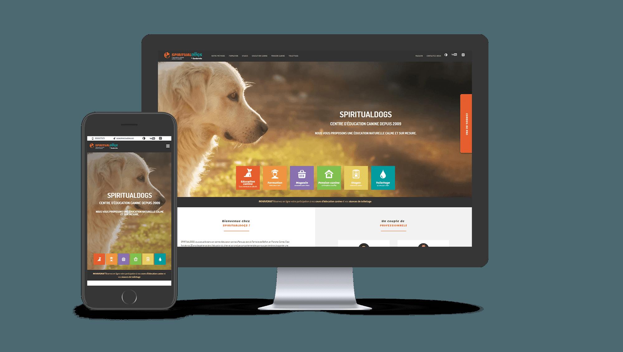 Photos de la création de Site vitrine Spiritualdogs