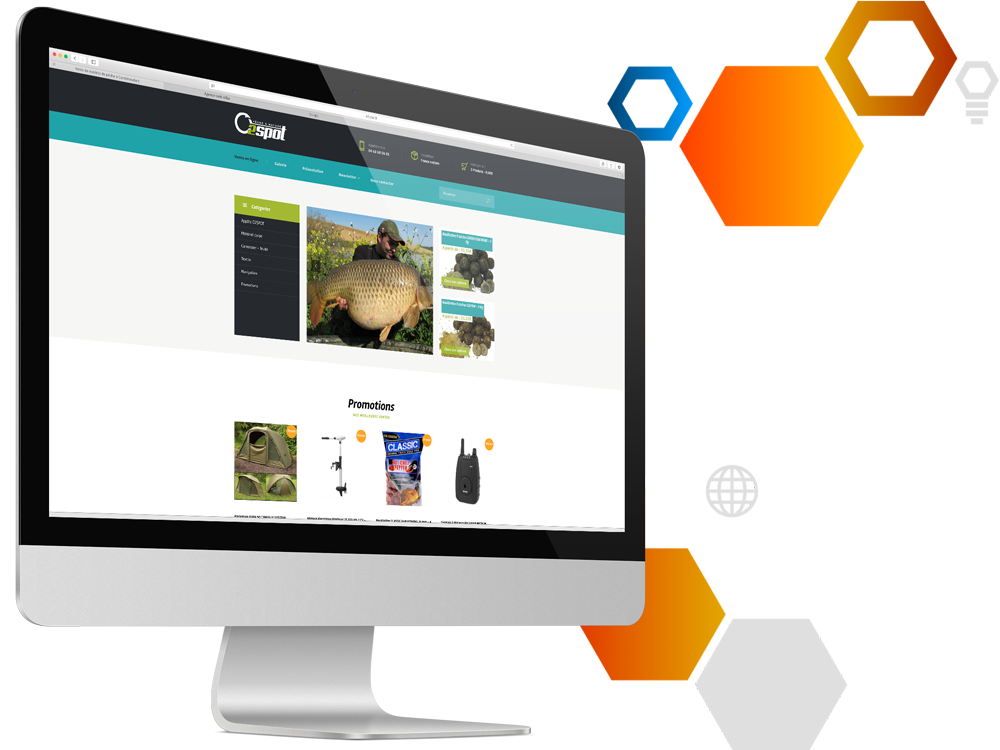 Photos de la création de Site marchand O2Spot