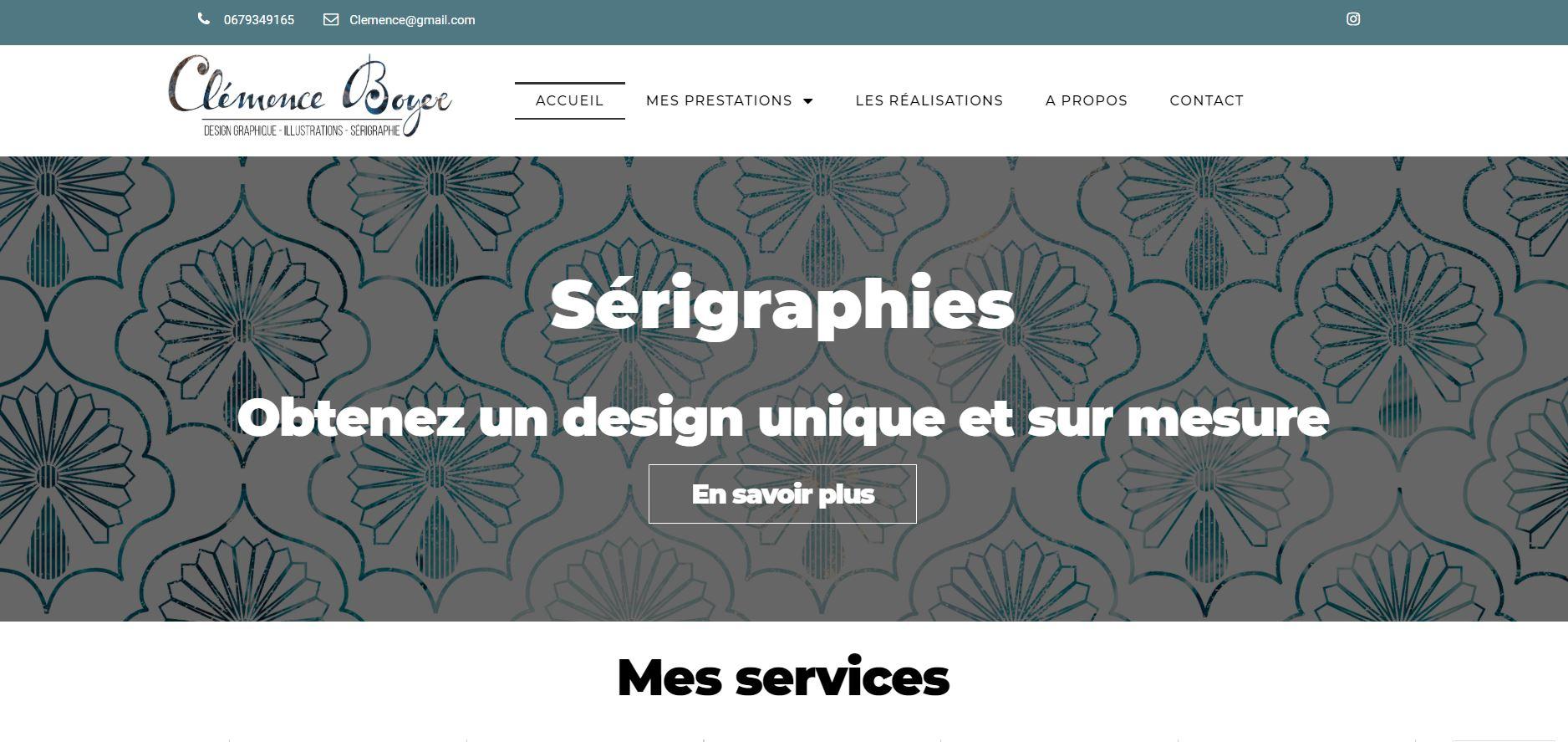 Photos de la création de Site vitrine Création site web