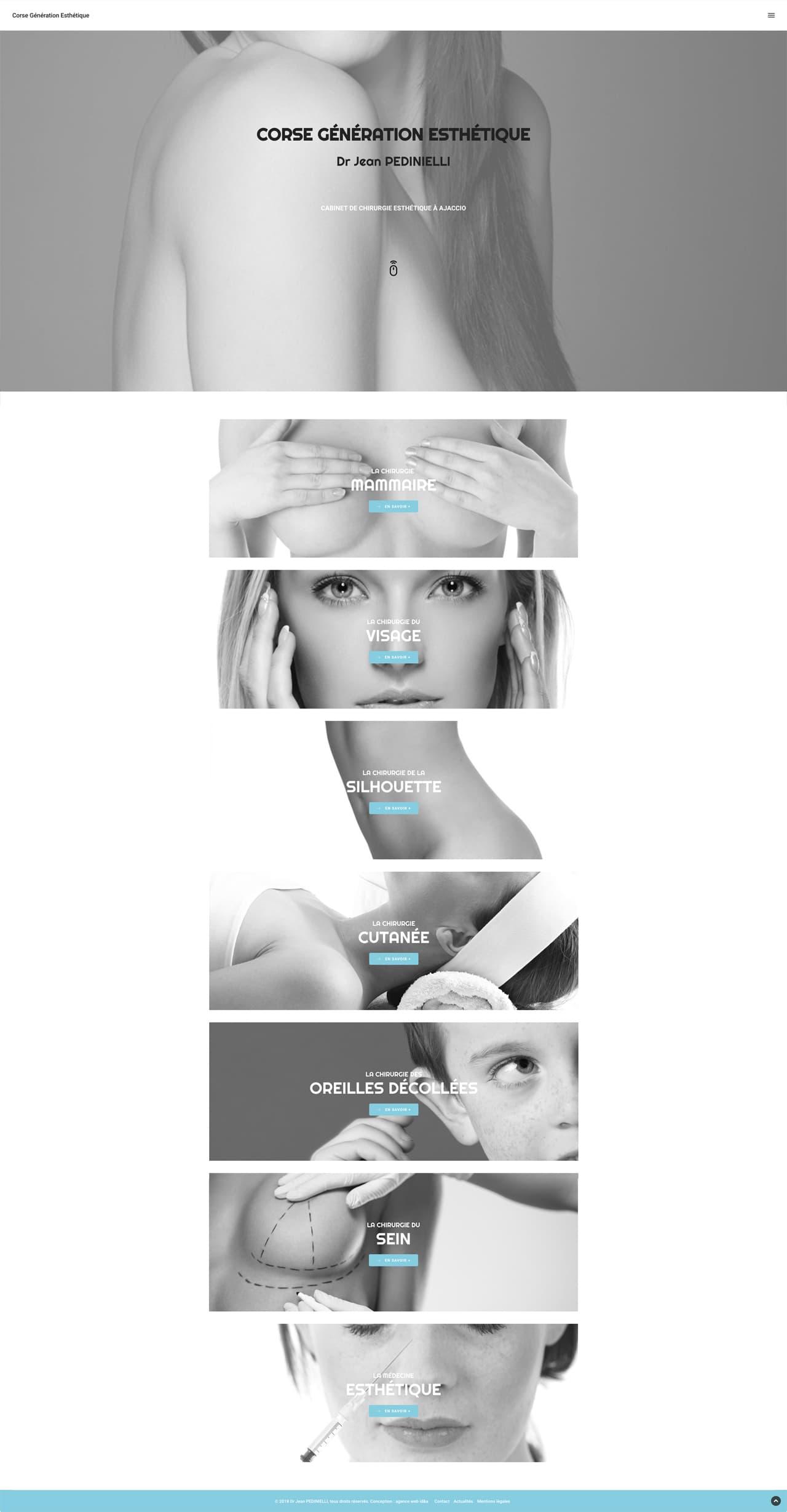 Photos de la création de Site vitrine Dr Jean PEDINIELLI