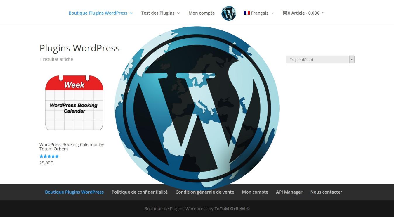 Photos de la création de Site marchand Boutique de plugin Wordpress