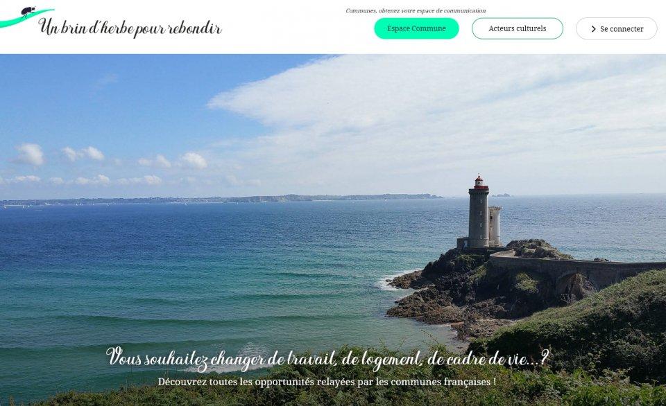 Photo du site Site vitrine Conception, développements du site web Un Brin d'Herbe Pour Rebondir