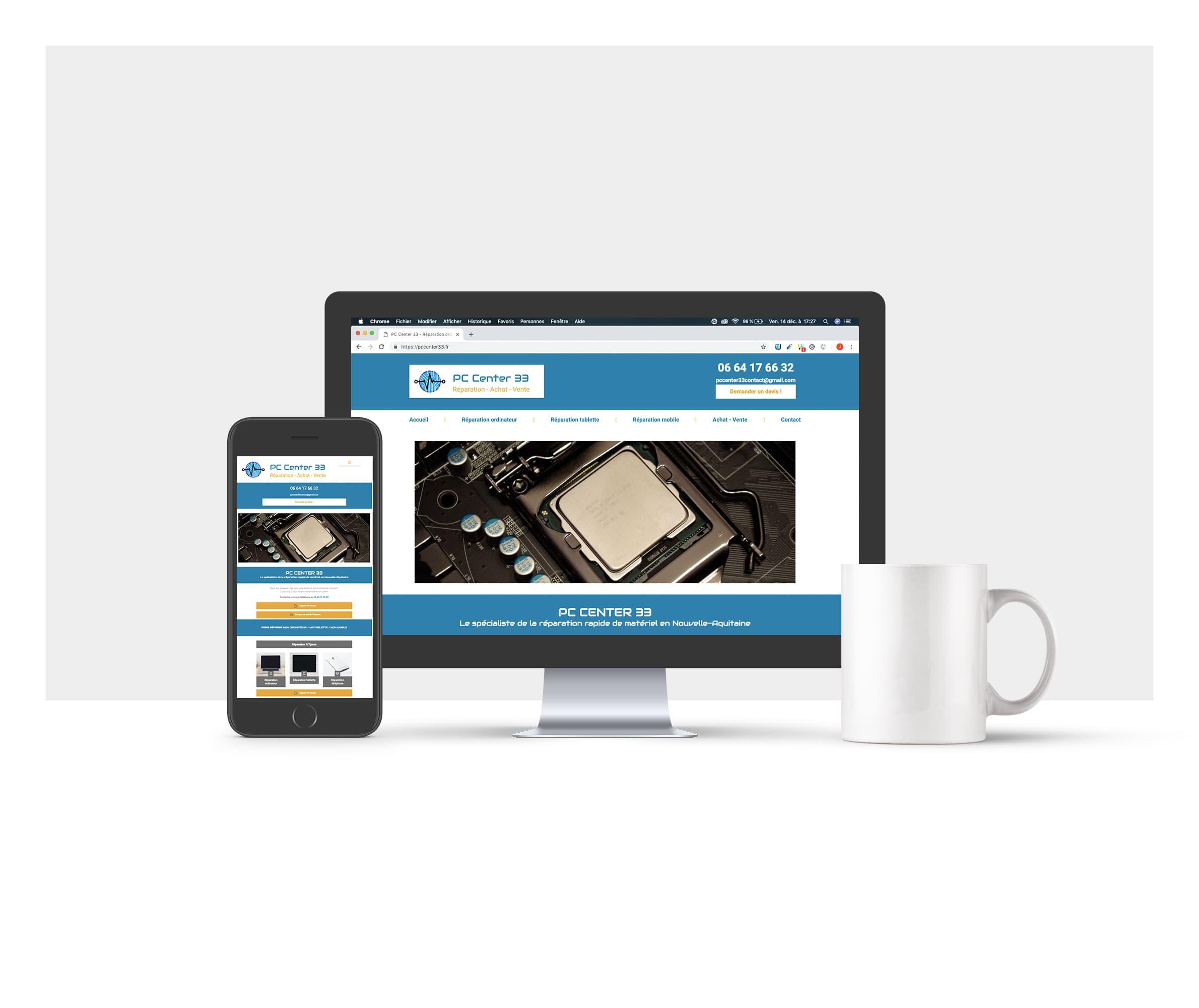 Photos de la création de Site vitrine PC Center