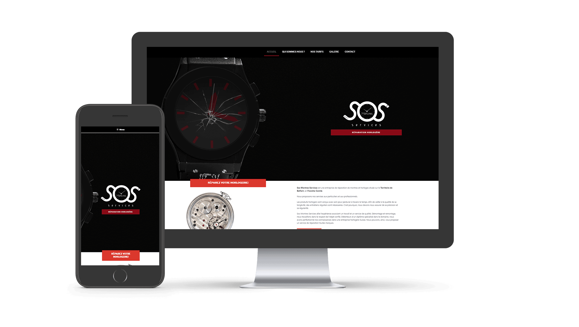 Photo du site Site vitrine SoS Montres