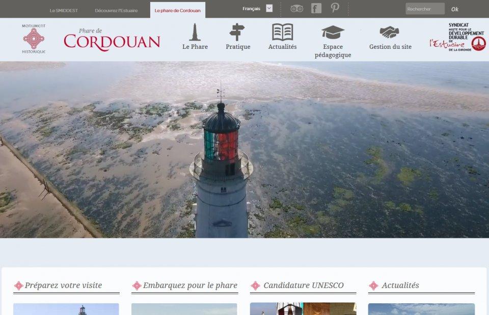 Photos de la création de Site vitrine Conception, développements & stratégie webmarketing  du site Internet Phare de Cordouan