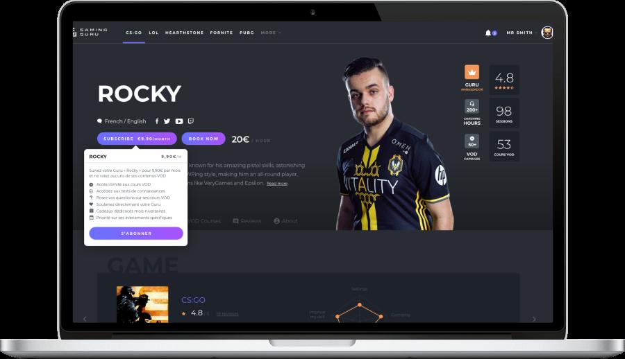 Photo du site Site marchand La première plateforme Française de coaching on-line par les gamers pour les gamers.