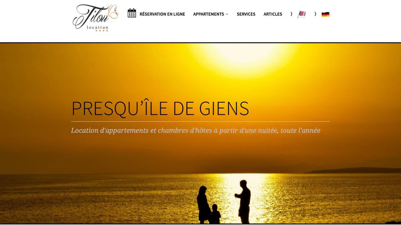 Photo du site Site marchand Tilou Location