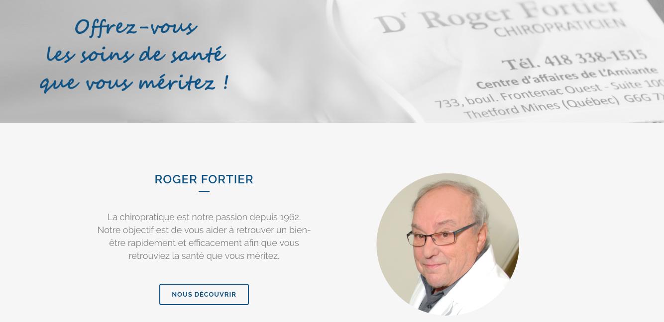 Photos de la création de Site vitrine Roger Fortier