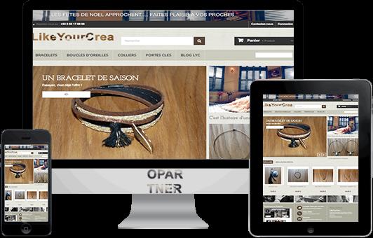 Photo du site Site vitrine Boutique de creation de bijoux