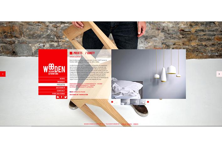 Photos de la création de Site vitrine Wooden Design