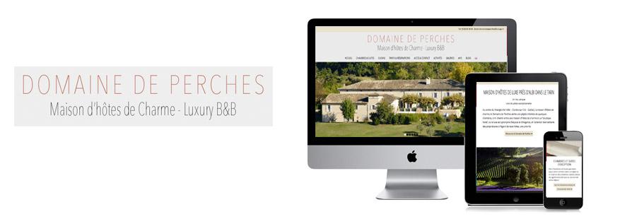 Photo du site Site vitrine Création du site Internet d'une maison d'hôte de luxe