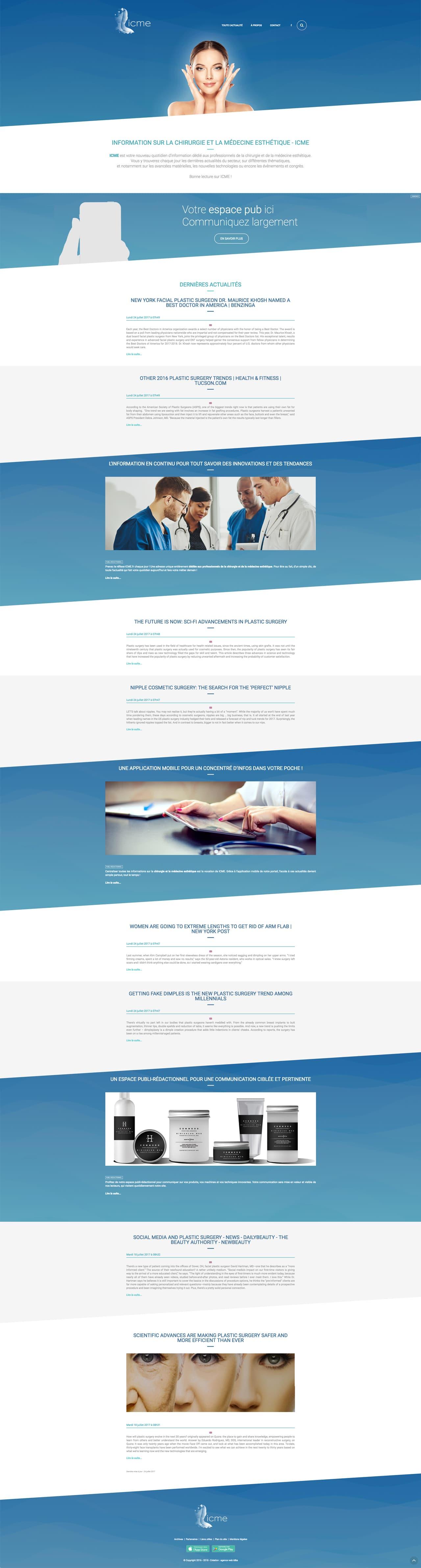 Photos de la création de Site vitrine ICME