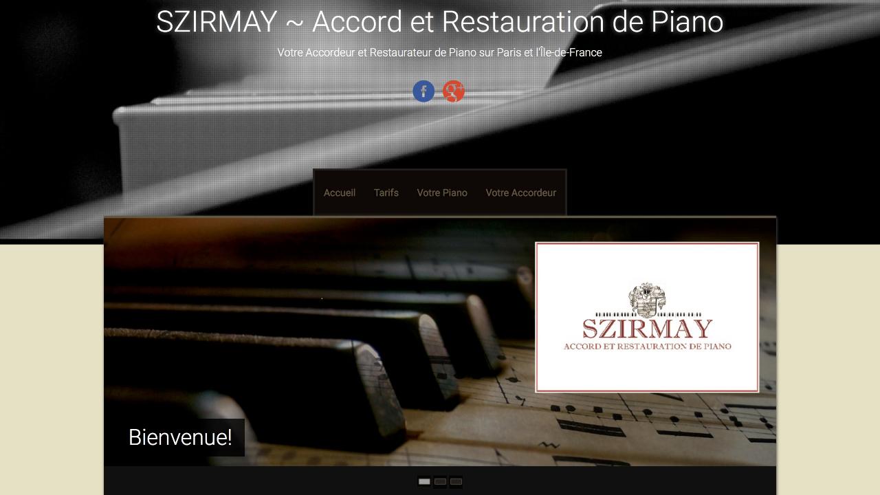 Photo du site Site vitrine SZIRMAY Accord et Restauration de Piano