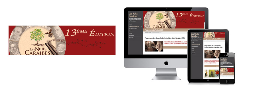 Photo du site Site marchand Création du site du festival de musique classique