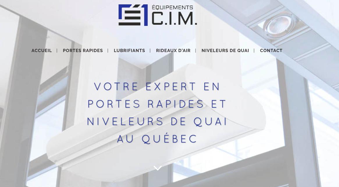 Photo du site Site vitrine Equipement CIM