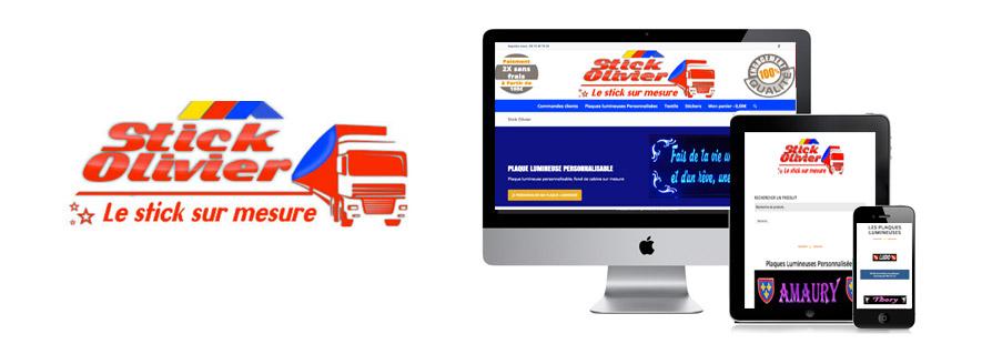 Photo du site Site marchand Création de site Internet pour des produits personnalisables