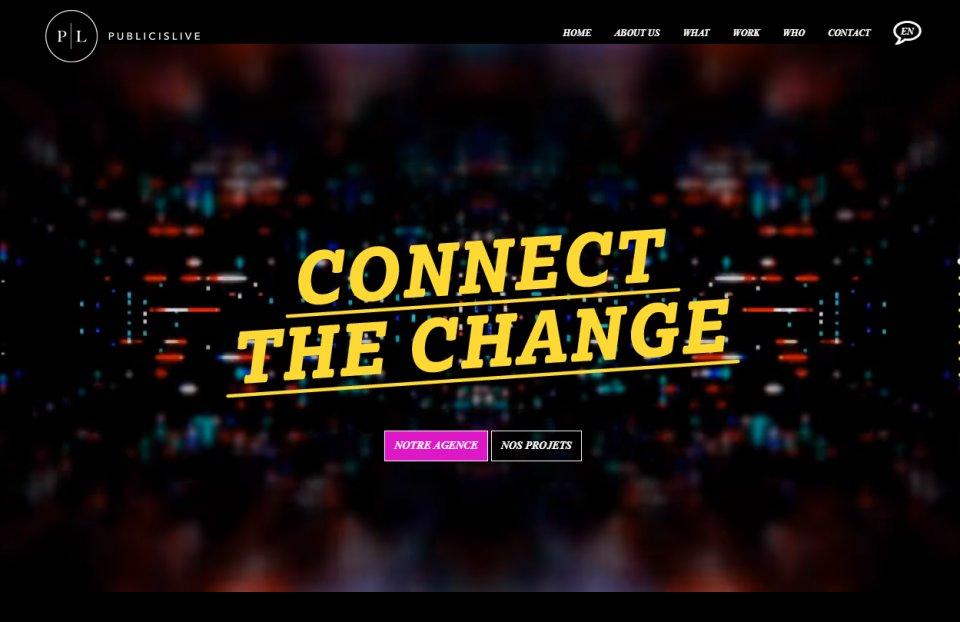 Photo du site Site vitrine Conception, développements du site web publicislive-paris.com