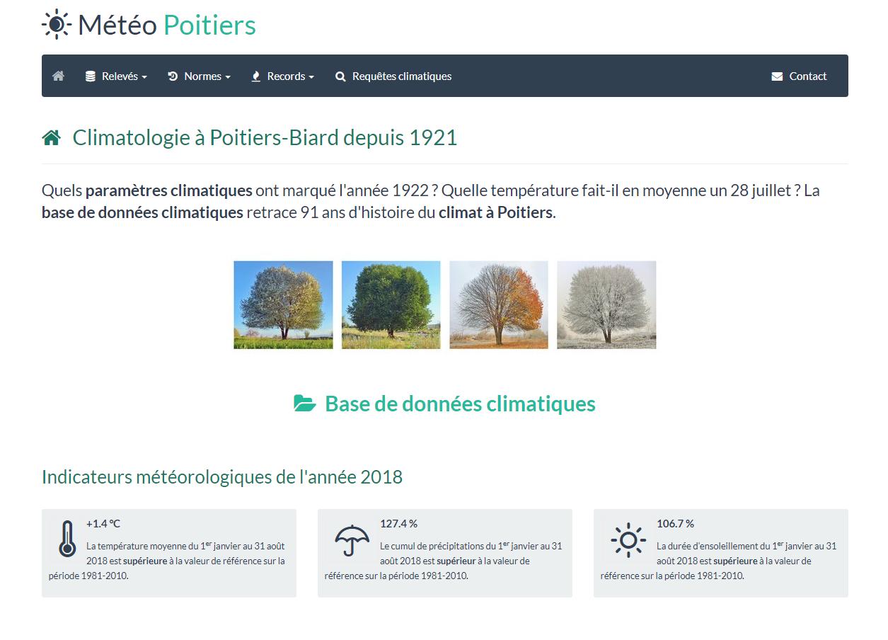 Photo du site Site vitrine Météo Poitiers